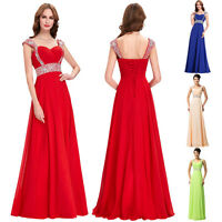 Sequin/Beaded Formal Long Cocktail Party EVENING Prom Bridesmaid DRESS Ball Gown