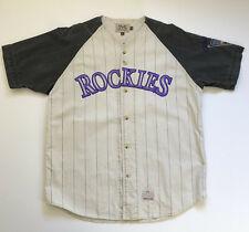 Vintage Colorado Rockies Baseball Jersey Mirage Embroidered Size Men's XL