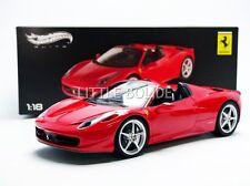 HOTWHEELS - ELITE (MATTEL) 1/18 FERRARI 458 Italia Spider - 2011 80338