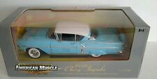 ERTL 1/18 1958 Chevy Impala Hardtop CASHMERE BLUE American Muscle Memories 32286