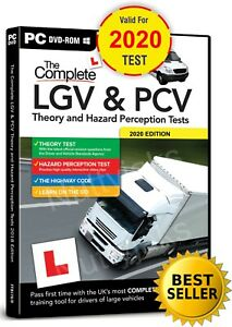 COMPLETE LGV HGV PCV DSA DVSA THEORY TEST HAZARD PERCEPTION  PC DVD CD 2021