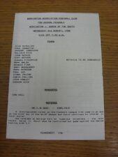 03/08/1988 workington V Queen of the South Friendly [] (4 pagine). grazie per la vista