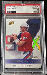 2000 Tom Brady Upper Deck SPx #130 Rookie RC Card (0180/1350) PSA GEM MINT 10
