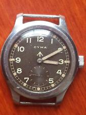 CYMA MILITARY WATCH, 1940's . WWW MOD arrow on back of case. Dirty dozen.