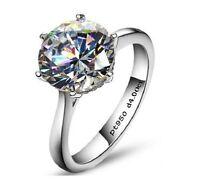 4ct Diamond Solitaire Engagement Ring 950 Platinum never tarnish finish