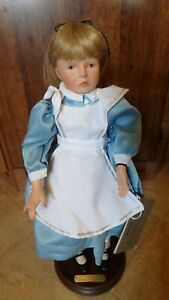 Silvestri Alice In Wonderland Doll By Faith Wick With Tag Certificate And Base