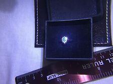 9ct gold Hallmarked  Ladies Vintage 1.10ct Emerald & Diamond Ring