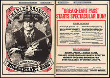 BREAKHEART PASS__Original 1976 Trade AD / poster__movie promo__CHARLES BRONSON