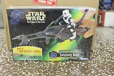 Star Wars Power of the Force Power Racing Speeder Bike with Scout Trooper