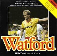 Football Programme>WATFORD v HUDDERSFIELD TOWN Oct 1983 FLC