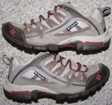 Columbia Running Shoes Gray Red Black Women 8.5 Eight 1/2 WoMens 40 2/3 European