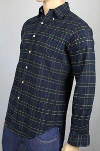 Ralph Lauren Petit S Marine Or Classique Robe Chemise Vert Queue de Cheval Nwt