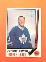 Johnny Bower 1969-70 O-Pee-Chee OPC Hockey Card #187  See Photos for Condition