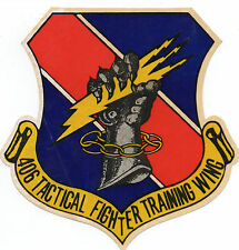 WWII Sticker 406 Tactical Fighter Training Wing Graphic