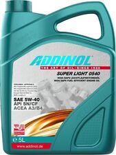 5 Liter Addinol Super Light 0540 1x5L Motoröl für u.a. Renault VW Opel Audi