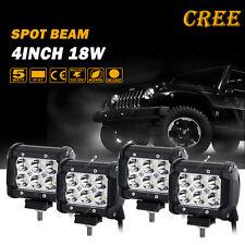 "4pcs 18W 4"" Cree LED Work Light Bar Spot Offroad 4WD Sport Utility Pickup Wagon"