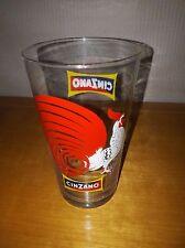 Bicchiere pubblicitario GALLO CINZANO Originale Anni 70 Vintage Ottimo Stato