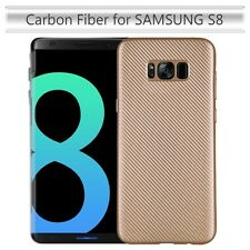 Samsung Galaxy S8 Carbon Fiber Phone Slim Lightweight Flexible Case Cover GOLD