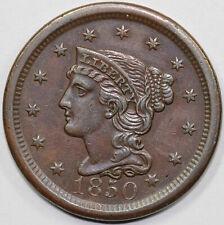1850 1c N-23 Braided Hair Large Cent