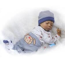 22 pouces Silicone Reborn Toddler Poupée Dormir Bébé Poupée Garçon Yeux Y4O8