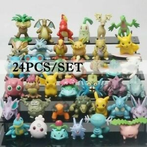 **MIXED LOT** 24 piece Pokemon Small Mini Figures - Guarantee Pikachu!
