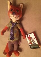 DISNEYSTORE AUTHENTIC - Zootopia Zootropolis Nick Wilde Plush Soft Toy BNWT 13""
