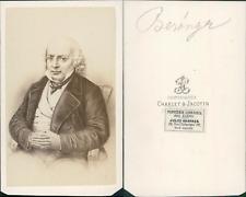 Béranger CDV vintage albumen. Tirage albuminé  6,5x10,5  Circa 1870  <div