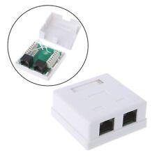 RJ45 Junction Box CAT5e Network Connector 2 Port Desktop Extension Cable Box