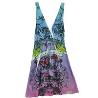 Las Vegas Sin City Womens Pool Beach Cover Up Dress Hard Rock Rainbow Graphics