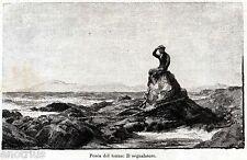 Sardegna: Pesca del Tonno: Vedetta o Segnalatore. Sardinia. Stampa Antica. 1892