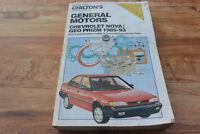CHILTON GM Chevrolet Nova GEO Prizm 1985-1993 Repair SHOP Manual