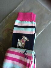 Joules Ladies Women's Girls Bamboo Socks Pack Of 3 Dog Hound Pug Stripes Colour