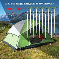 9.84inch Stainless Steel Luminous Plastic Head Tent Nail Tent Stake Tent Peg