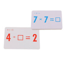 72 Pieces Total Math Flash Cards for Multiplication and Division Operations