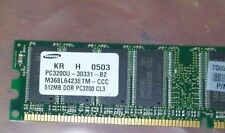 512MB PC3200 DDR-400 32X8 16CHIPS 184PIN  NON-ECC DESKTOP  RAM  M368L6423ETM-CCC
