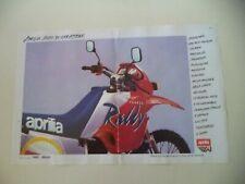 advertising Pubblicità 1989 MOTO APRILIA TUAREG RALLY