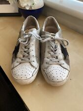 Golden Goose Silver White Leather Blue Suede Star 40