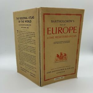 Bartholomew's Map of Europe & Mediterranean, 1948
