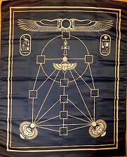 Wicca Magic Cloth Altar Tarot Ankh Version Blue Gold