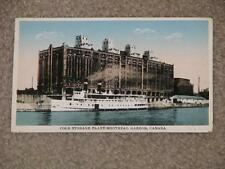 Cold Storage Plant, Montreal Harbor, Canada, unused vintage card