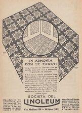 Z5237 Linoleum - Pavimento in armonia con le pareti - Pubblicità - 1927 old ad