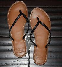 NWT! Abercrombie & Fitch Womens Flip Flops Sandals Black 7/8