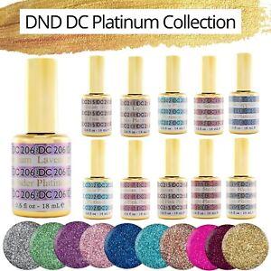 DND DC Platinum Gel - LED/UV DND Gel Polish - .6oz 18ml - PICK YOUR COLOR