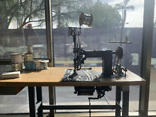 Cornely Machine Artisan Chainstitch Embroidery Machine w/ Table Motor Read Descr