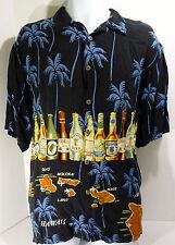 Thumbs Up Sportswear Hawaiian Shirt Beer Islands Palm Trees