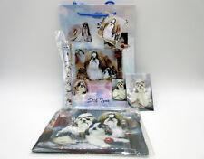 New Shih Tzu Gift Bag Set w/ Pen Magnet Zipper Pouch & Tissue Paper By Ruth M