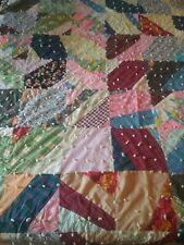 Patchwork Crazy Quilt Lightweight for Summer 76.5 x 61