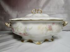 Haviland Limoges   Pink Roses  Casserole Dish With Lid   -   Nice Item