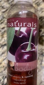 Rare New Old Stock Avon Naturals Senses Body Spray 8.4 oz Black Cherry & Nutmeg