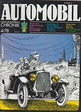 AUTOMOBIL UND MOTORRAD CHRONIK 4/78 ~ German ~Opal  1931 Chrysler Imperial